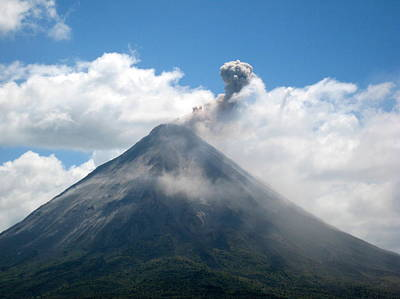 Poster featuring the photograph Arenal Eruption by Eric Tressler