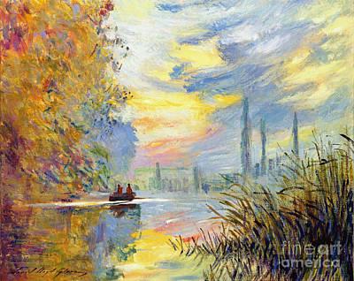 Argenteuil Evening - Sur Les Traces De Monet Poster