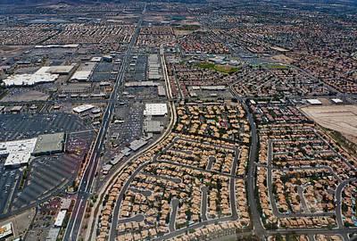Arial View Of Las Vegas Poster