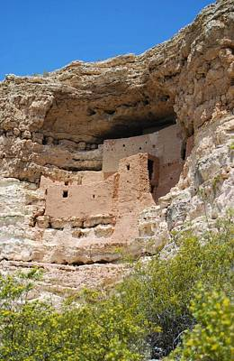 Poster featuring the photograph Arizona Cliff Dwellings by Judy Hall-Folde