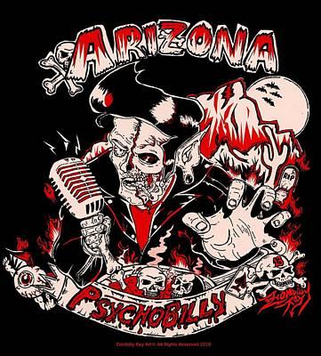 Arizona Psychobilly Poster by Zombilly Ray