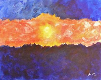 Poster featuring the painting Arizona Sunset by Tatum Chestnut