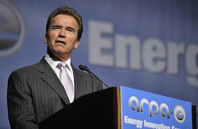 Arnold Schwarzenegger Speaks Poster by Everett