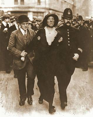 Arrest Of A Suffragette Poster by Padre Art