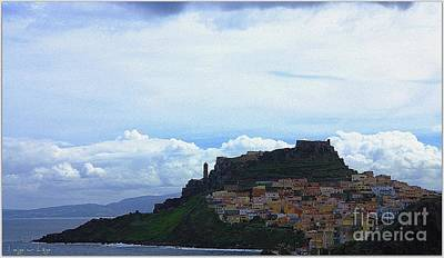 Poster featuring the photograph Arriving @castelsardo by Mariana Costa Weldon