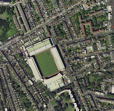 Arsenal's Highbury Stadium, Aerial View Poster by Getmapping Plc