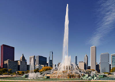 Art Deco Buckingham Fountain Chicago Poster by Christine Till