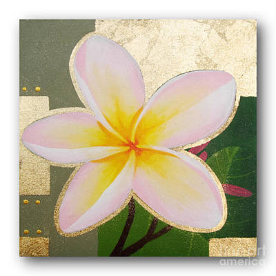 art flower painting FL057 Poster by Flower Painting