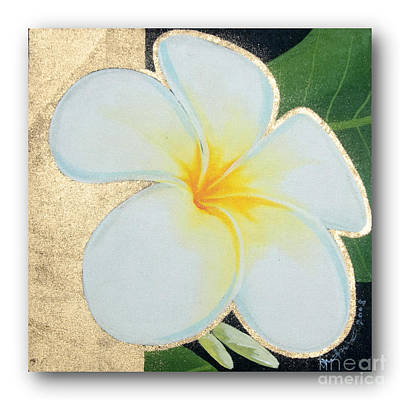 art flower painting FL063 Poster by Flower Paintings