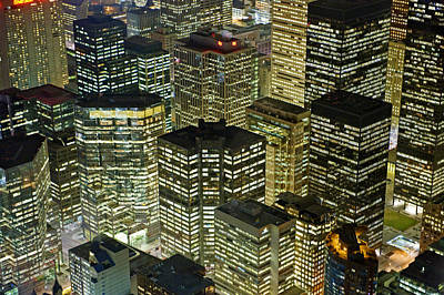 Artificial Light From Buildings Poster