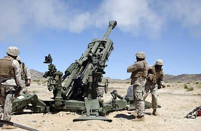 Artillerymen Fire-off A Round Poster by Stocktrek Images