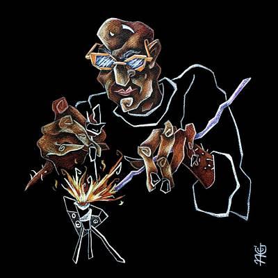 Artist Murano Glass Hand Made - Disegno Scuola Vetro Artistico Italia Poster by Arte Venezia