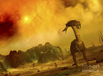 Artists Concept Of An Alien Planet Poster by Walter Myers