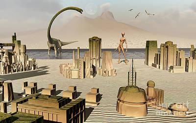 Artists Concept Of An Alien World Poster by Mark Stevenson