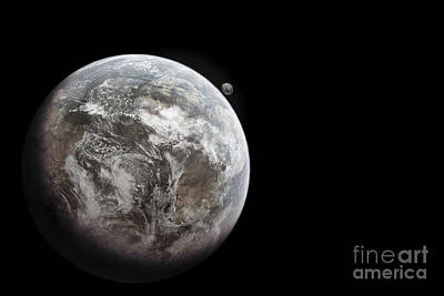 Artists Concept Of Earth As A Lifeless Poster