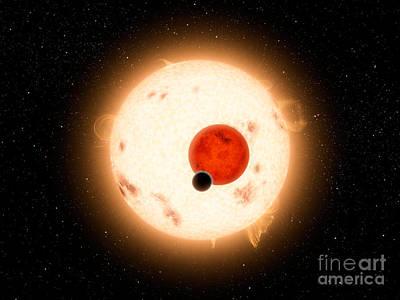 Artists Concept Of The Kepler-16 System Poster