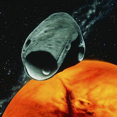 Artist's Impression Of The Martian Moon Phobos Poster by Julian Baum