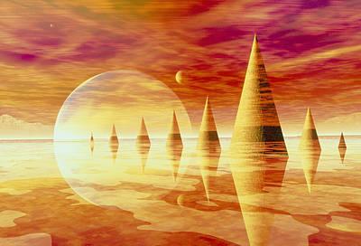 Artwork Of An Alien Landscape Poster