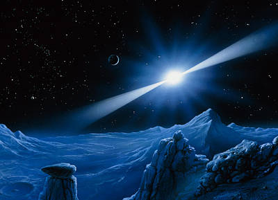 Artwork Of Pulsar Over A Planet Poster