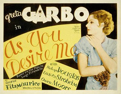 As You Desire Me, Greta Garbo, 1932 Poster