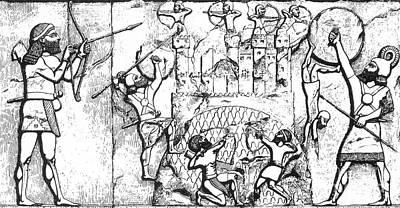 Assyrian Archers Attack Ekron 712 Bc Poster
