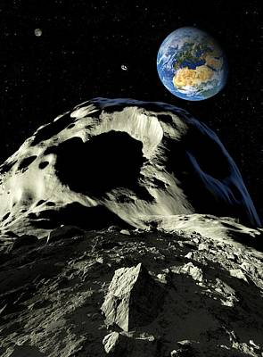 Asteroids Approaching Earth, Artwork Poster by Detlev Van Ravenswaay