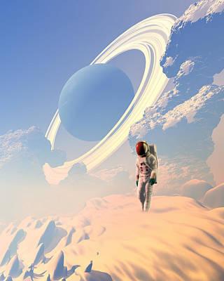 Astronaut Exploring A Planet Poster