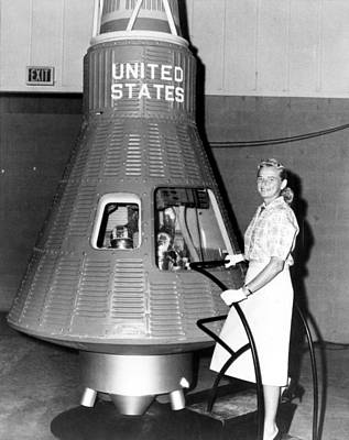 Astronaut Trainees Jerrie Cobb Stands Poster by Everett