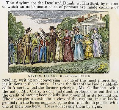 Asylum For The Deaf/dumb Poster
