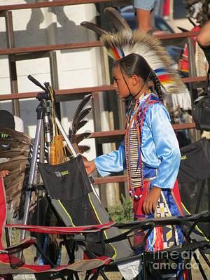 Poster featuring the photograph At Blackfeet Pow Wow 03 by Ausra Huntington nee Paulauskaite