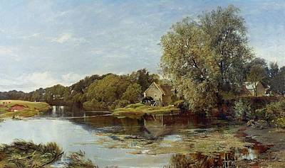 At Milton Mill On The River Irvine Poster by Horatio McCulloch