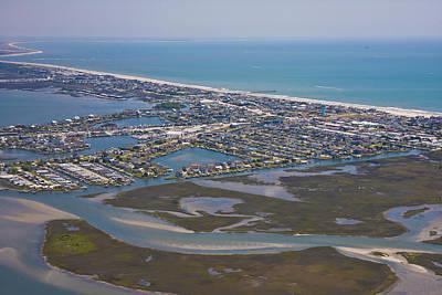 Atlantic Beach Beaufort Aerial Poster by Betsy Knapp