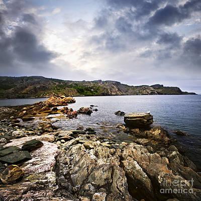 Atlantic Coast In Newfoundland Poster by Elena Elisseeva