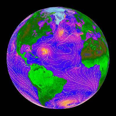 Atlantic Storms, Quikscat Radar Image Poster