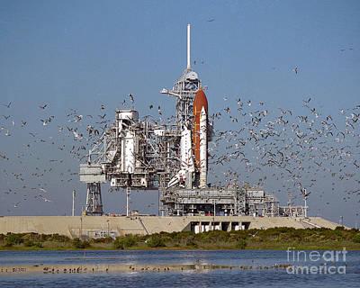 Atlantis On Launchpad Poster
