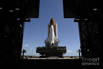 Atlantis Rolls Toward The Open Doors Poster by Stocktrek Images