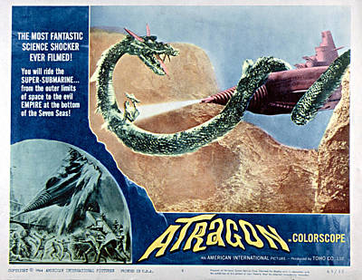 Atragon, Aka Kaitei Gunkan, 1963 Poster by Everett