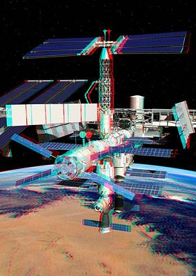 Atv Boosting The Iss, Stereo Image Poster by David Ducros