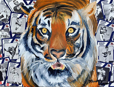 Auburn Tiger  Poster by Michael Lee