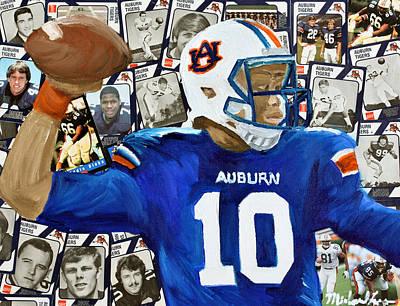 Auburn Tigers Quarterback #10 Poster by Michael Lee
