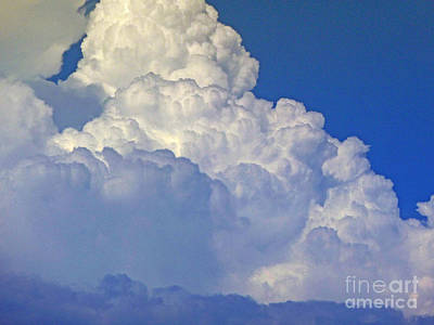 August Monsoon Clouds Poster
