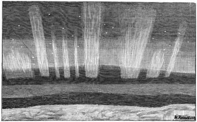 Aurora Borealis, 19th Century Poster by