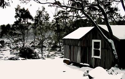Australian Alpine Snow Hut Poster by Phill Petrovic