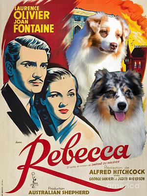 Australian Shepherd Art - Rebecca Movie Poster Poster
