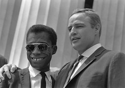 Author James Baldwin And Actor Marlon Poster by Everett