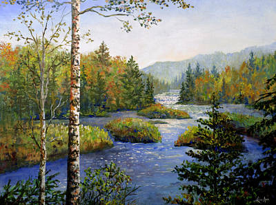 Poster featuring the painting Autum In Michigan by Lou Ann Bagnall