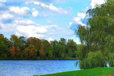 Poster featuring the photograph Autumn At Hoyt Lake by Michael Frank Jr