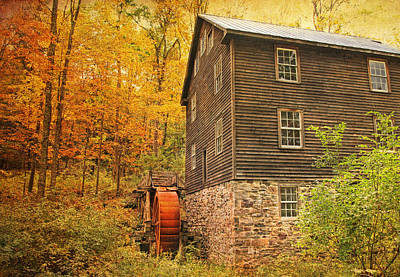 Autumn At Millbrook 4 - The Grist Mill Poster