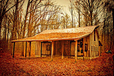 Poster featuring the photograph Autumn Barn by Mary Timman