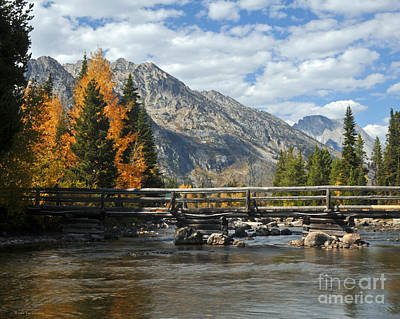 Autumn Bridges Grand Teton National Park Poster
